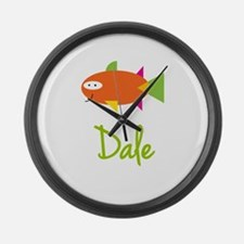 Dale is a Big Fish Large Wall Clock