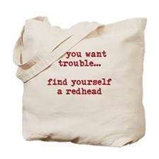 Redhead Trouble Tote Bag