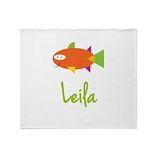 Leila is a Big Fish Throw Blanket