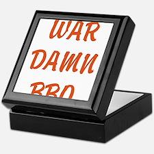 WAR DAMN BBQ Keepsake Box