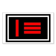 Master/slave Pride Flag Rectangle Decal