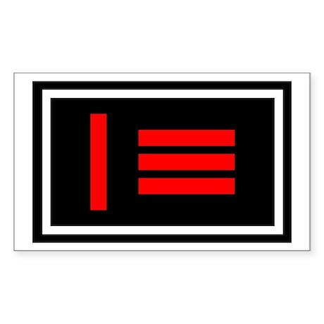 Master/slave Pride Flag Rectangle Sticker