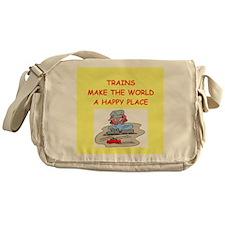 trains Messenger Bag