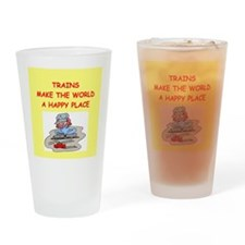 trains Drinking Glass