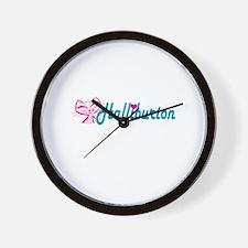 HALLIBURTON LOVE Wall Clock