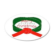"""Karate Christmas"" 38.5 x 24.5 Oval Wall Peel"