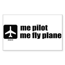 Me Pilot, Me Fly Plane Stickers