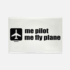 Me Pilot, Me Fly Plane Rectangle Magnet
