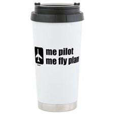 Me Pilot, Me Fly Plane Thermos Mug
