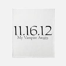 Vampire Waits Throw Blanket