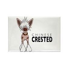 Chinese Crested Rectangle Magnet (100 pack)