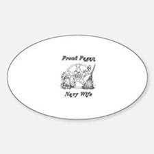 pagan navy wife Oval Decal