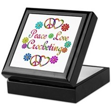 Peace Love Crocheting Keepsake Box