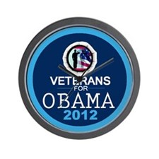 VETERANS for OBAMA Wall Clock