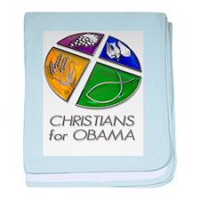 Christians for Obama baby blanket