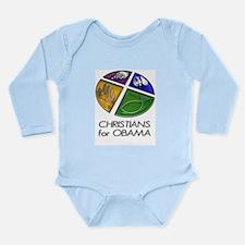Christians for Obama Long Sleeve Infant Bodysuit