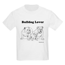 Bulldog Lover Black/White Kids T-Shirt