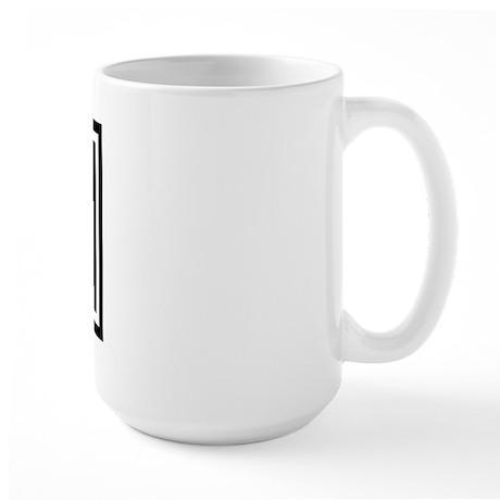 Master/slave Dom/sub Flag Large Mug (Left handed)