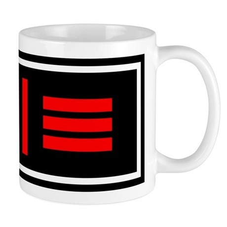 Master/slave Dom/sub Flag Mug (Right handed)