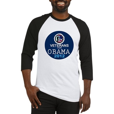 VETERANS for OBAMA Baseball Jersey