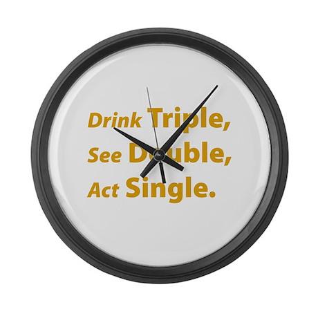 Drink Triple ... Large Wall Clock
