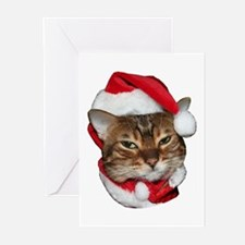 Santa Bengal Cat Greeting Cards (Pk of 10)