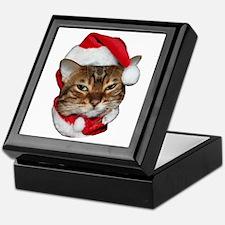 Santa Bengal Cat Keepsake Box