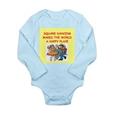 square dancing Long Sleeve Infant Bodysuit