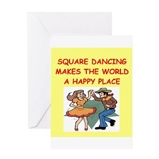 square dancing Greeting Card