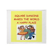 square dancing Throw Blanket