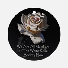 THE WHITE ROSE SOCIETY Ornament (Round)