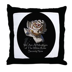 THE WHITE ROSE SOCIETY Throw Pillow
