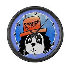 Scruff the Dog Large Wall Clock
