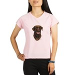 Chocolate Labrador Retriever Performance Dry T-Shi