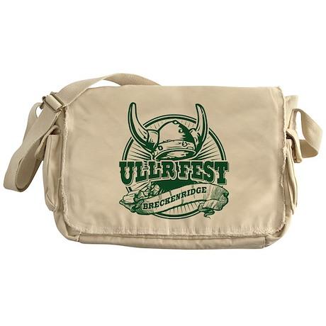 Ullr Fest Old Circle Green Messenger Bag
