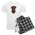 Chocolate Labrador Retriever Men's Light Pajamas