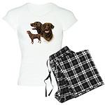 Chocolate Labrador Retriever Women's Light Pajamas
