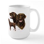Chocolate Labrador Retriever Large Mug