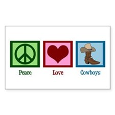 Peace Love Cowboys Decal