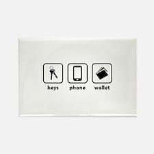 Keys Phone Wallet Rectangle Magnet