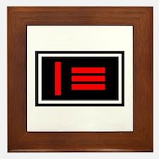 Dom/sub Master/slave Pride Flag Framed Tile