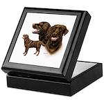 Chocolate Labrador Retriever Keepsake Box
