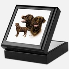 Chocolate Labrador Retriever Keepsake Box