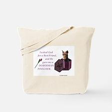 God Gave Me A Doberman (Rust, Cropped) Tote Bag