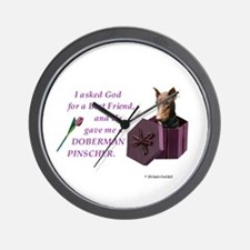 God Gave Me A Doberman (Rust, Cropped) Wall Clock