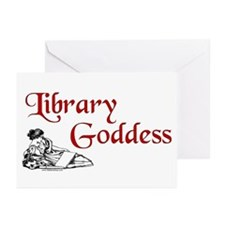 Library Goddess Vintage Greeting Cards (Pk of 10)