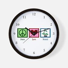 Peace Love Bonsai Wall Clock