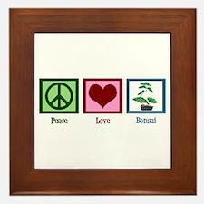 Peace Love Bonsai Framed Tile