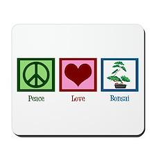Peace Love Bonsai Mousepad