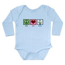 Peace Love Bonsai Long Sleeve Infant Bodysuit